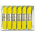 Lapices cera Manley unicolor color amarillo limon caja de 12 Nº 2