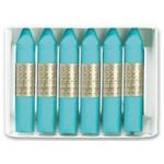Lápices cera Manley unicolor color azul turquesa caja de 12 Nº 16