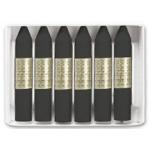 Lápices cera Manley unicolor color negro caja de 12 Nº 30