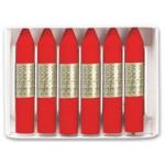 Manley 9 - Ceras blandas, caja de 12 unidades, color rojo escarlata