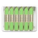 Lápices cera Manley unicolor color verde amarillento caja de 12 Nº 22