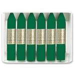 Manley 24 - Ceras blandas, caja de 12 unidades, color verde esmeralda