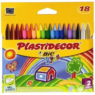Bic Plastidecor E5438C - Ceras duras, caja de 18 colores