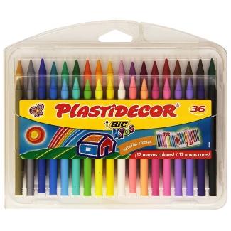 Bic Plastidecor 882337 - Ceras duras, estuche con 36 colores
