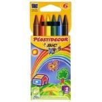 Lápices cera Plastidecor caja de 6 colores