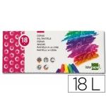 Liderpapel BD02 - Ceras blandas, caja de 18 colores