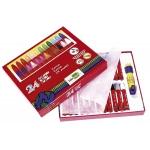 Lapices cera blanda Liderpapel caja de 24 colores