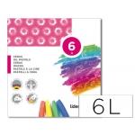 Lápices cera blanda Liderpapel caja de 6 colores