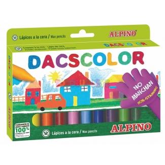 Alpino Dacscolor DC050290 - Ceras semiblandas, caja de 12 colores