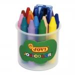 Jovi Jovicolor 980-16 - Ceras duras, bote de 16 colores