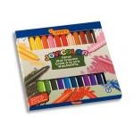 Lápices cera jovicolor caja de 24 colores