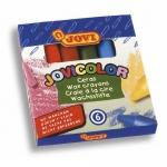 Lápices cera jovicolor caja de 6 colores