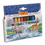 Lapices cera jovicolor triangular triwax 12 colores