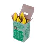 Lapices cera jovicolor unicolor color amarillo claro caja de 12