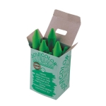 Lapices cera jovicolor unicolor color verde claro caja de 12