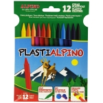 Alpino Plastialpino PA000012 - Ceras duras, caja de 12 colores