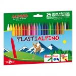 Alpino Plastialpino PA000024 - Ceras duras, caja de 24 colores