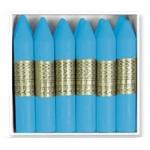 Lapices de cera Manley unicolor color celeste claro caja de 12 Nº 41