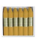 Lapices de cera Manley unicolor color ocre madera caja de 12 Nº 64