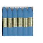 Lápices de cera Manley unicolor color verde azulado oscuro caja de 12 Nº 53
