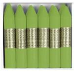 Lapices de cera Manley unicolor color verde dorado caja de 12 Nº 48