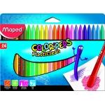 Lápices de cera Maped plasticlean caja de 24 colores surtidos