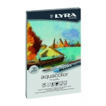 Lapices de cera acuarelable Lyra aquacolor aquarell 12 colores caja metal