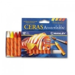 Lápices de cera masats acuarelable caja de 12 unidades colores surtidos