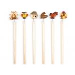 Lapices de madera con diseño de animales
