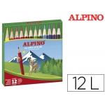 Lapices de colores Alpino 652 caja de 12 colores cortos