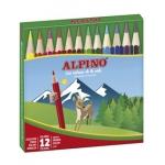 Alpino 652 - Lápices de colores, caja de 12 colores cortos