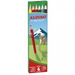 Lapices de colores Alpino 653 caja de 6 colores largos