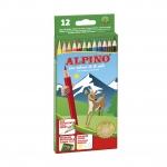 Alpino 654 - Lápices de colores, caja de 12 colores