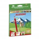 Alpino 656 - Lápices de colores, caja de 18 colores