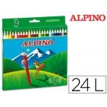 Lapices de colores Alpino 658 caja de 24 colores largos