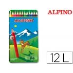 Lapices de colores Alpino 754 caja de 12 colores caja de metal