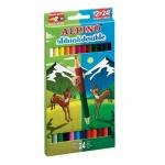 Lapices de colores Alpino doble caja de 12 colores con 24 puntas