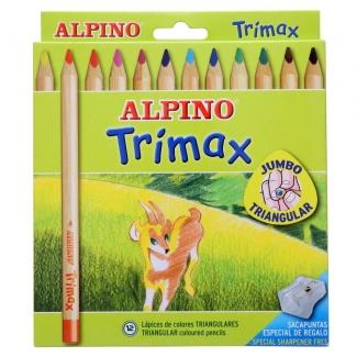 Alpino Trimax AL000113 - Lápices de colores, caja de 12 colores