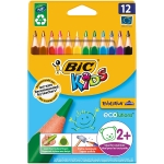 Lapices de colores Bic evolution triangulares estuche de 12 colores surtidosmina ultra resistente