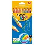 Bic Kids Tropicolors 832566 - Lápices de colores, caja de 12 colores
