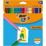 Lapices de colores Bic tropicolors estuche de 24 colores surtidos