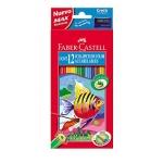 Faber-Castell 120212 - Lápices de colores acuarelables, caja de 12 colores
