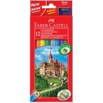 Faber-Castell 120112 - Lápices de colores, caja de 12 colores, con sacapuntas