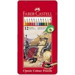 Faber-Castell 115844 - Lápices de colores, caja metálica de 12 colores