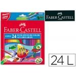 Lapices de colores Faber-Castell acuarelables caja de 24 colores surtidos