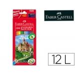 Lapices de colores Faber-Castell caja de 12 colores hexagonal madera reforestada