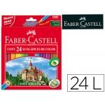 Lapices de colores Faber-Castell caja de 24 colores hexagonal madera reforestada
