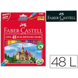 Lapices de colores Faber-Castell caja de 48 colores hexagonal madera reforestada