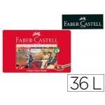 Lapices de colores Faber-Castell caja metálica de 36 colores surtidos