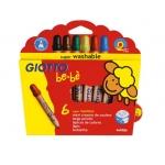 Giotto Bebe 469600 - Lápices de colores, caja de 6 colores